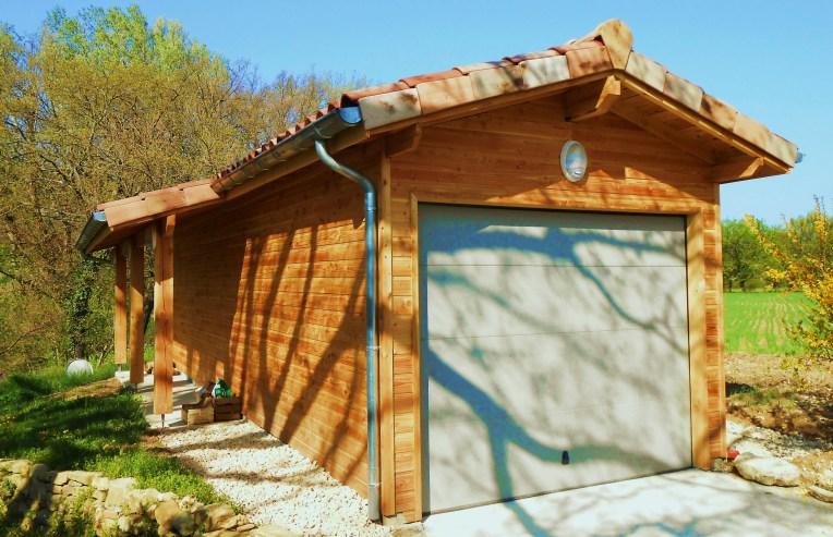 Garage Ossature bois Douglas - Dieulefit 2013 - Bati Eco et Emile M.