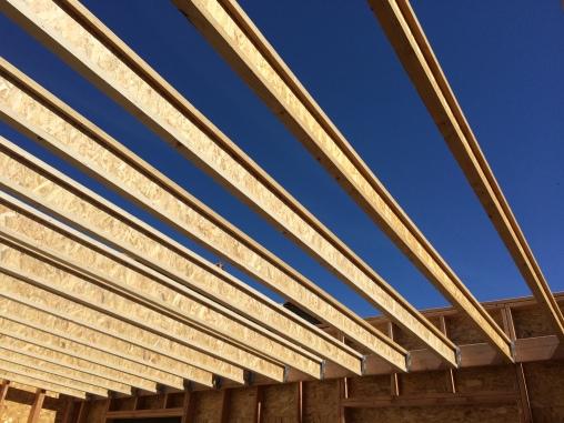 Extension Bois toit plat - 2017- Emile M. - Poutres en I